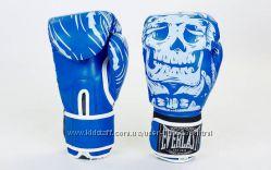 Перчатки боксерские Everlast Skull полиуретан 10 oz