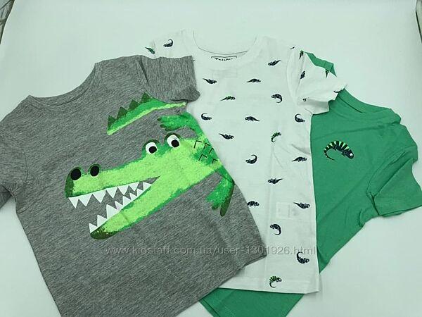 Набор футболок с крокодилом СА на мальчика 6-7 лет, рост 122 см