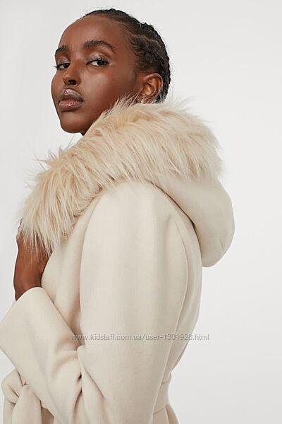 Короткое флисовое пальто НМ, размер С, новое