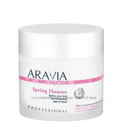 Новинка. Крем для тела питательный цветочный Spring Flowers, 300 мл, ARAVIA