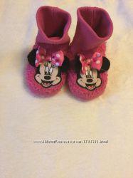 Розовые тапочки Disney с Минни 12-18М на ножку 11, 5-12, 5см