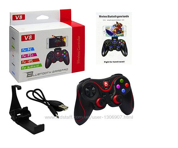 Bluetooth беспроводной геймпад, джойстик V8, игровой контроллер Android