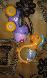 Fisher price игрушка-каталка бегемотик и лошадка Chicco