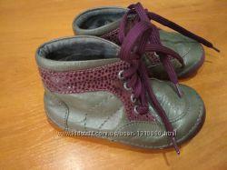 Кожаные ботинки пинетки lupilu 21 р.