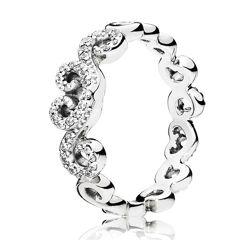 Кольцо Ажурные сердца С3584