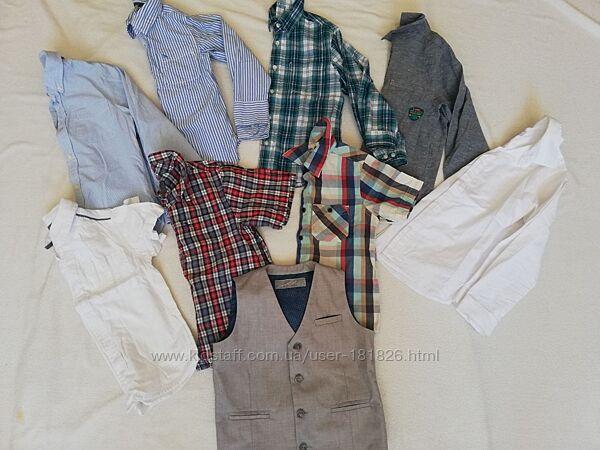 Фирменные рубашки длинный рукав и короткий