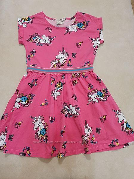 Платье с единорогами LC Waikiki, 7-8 лет