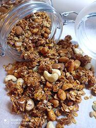 Гранола Granola  домашняя . Идеальный, быстрый, вкусный  и полезный завтрак