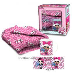 Подарочный набор ЛОЛ L. O. L. Surprise MGA - плед и кружка для девочки