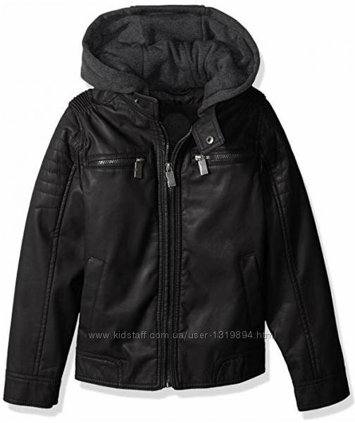Крутая кожаная деми куртка от Urban Republic США р. L 14-16