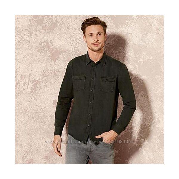 Джинсовая рубашка L 41/ 42 Livergy Германия черная
