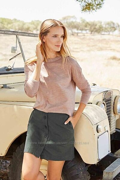 Стильная льняная юбка трапеция XL 42 euro Esmara Германия