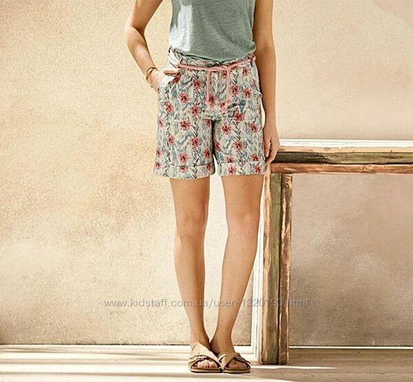 Лляні шорти Esmara S різнокольоровий льняные шорты
