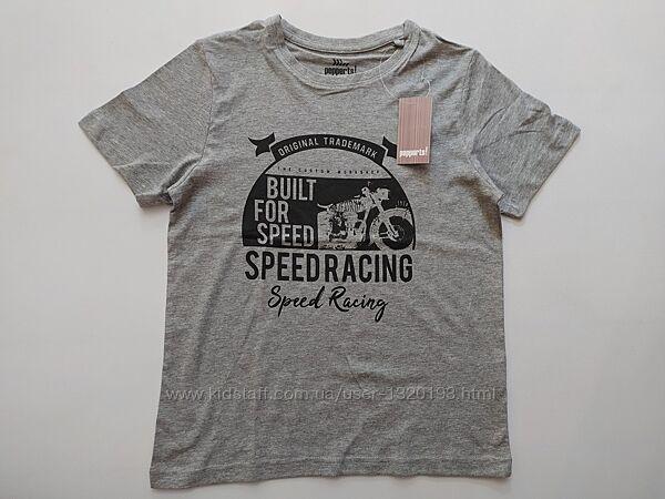 Хлопковая футболка для мальчика 122 128 см pepperts германия серая