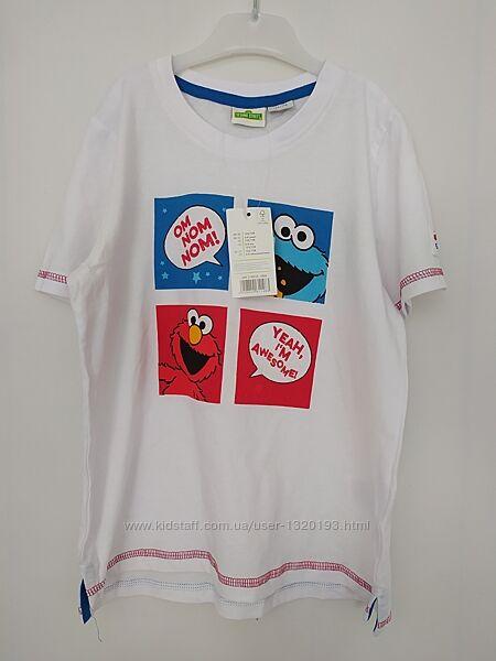 Хлопковая футболка для мальчика 122 128 см белая