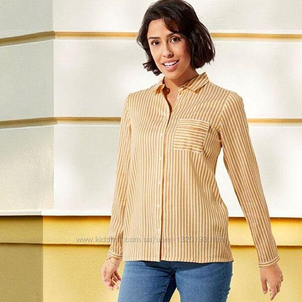 Рубашка, блуза в полоску S 36 euro Esmara Германия желтая