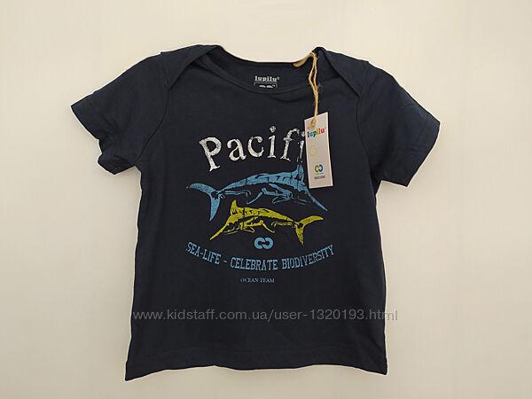 Хлопковая футболка для мальчика 86 92 см синяя Lupilu Германия