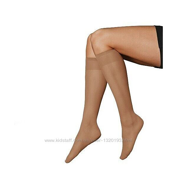 Высокие капроновые носки гольфы 15 den esmara германия