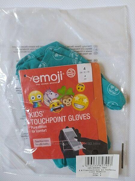 Детские перчатки с тачскрин, сенсорные, lidl размер 4 бирюзовые