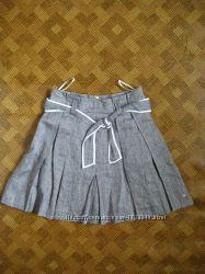 юбка юбочка  клёш льняная из льна Tommy Hilfiger размер 8us / наш 46р