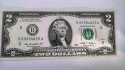 Копюри по 2 долари США