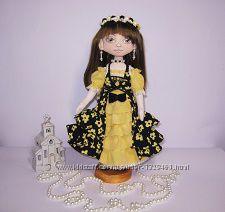 Текстильная кукла девочка , ручная работа