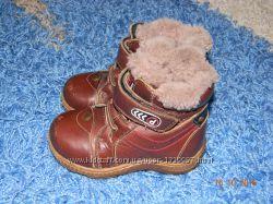 Ботинки детские из натуральной кожи на цигейке
