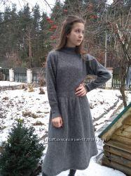 Теплое воздушное платье