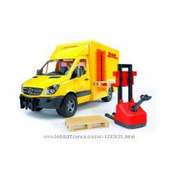 BRUDER МВ Sprinter курьерская доставка грузов с погрузчиком, М116 02534