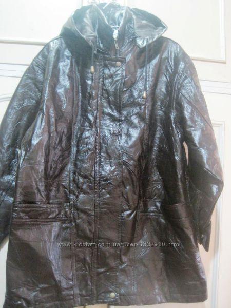 Куртка кожаная демисезонная размер L