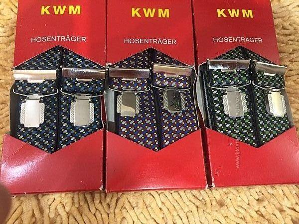 Подтяжки KWM унисекс, текстиль.  Произ. Германия.