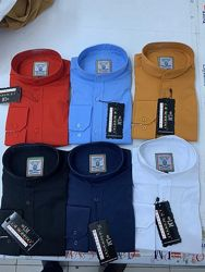Cтильные рубашки с стойкой воротник, разные цвета и размеры . Новые
