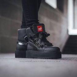 Оригинал Ботинки женские Puma Fenty x Rihanna Black Sneaker Boot
