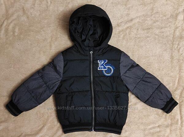 Курточка бомбер с капюшоном деми Kiabi 3-4 года, 104-110 см