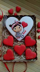 Пряники Валентинки, День влюбленных, любимым