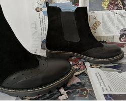 Женские ботинки весна осень Timberland натуральная замша кожа Тимберленд