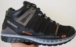 a452136dc Зимние мужские супер практичные кожаные кроссовки Salomon качество отличное