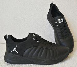 Jordan 23 чёрные мужские кроссовки осень весна кожа обувь джордан кросовки