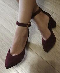 Комфортные туфли Limoda из натуральной замши босоножки на каблуке 6 см