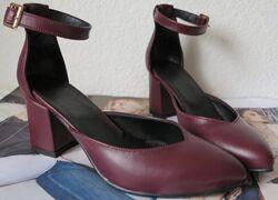 Комфортные туфли Limoda из натуральной кожи босоножки на каблуке 6 см