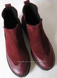 Timberland бордо женские ботинки челси оксфорд замша кожа Тимберланд марсал