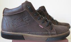 Wrangler Мужские зимние кеды ботинки натуральная кожа в спортивном стиле