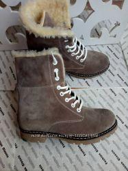 Супер зимние женские сапоги ботинки в стиле Timberland теплые замша цвет