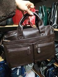 Кожаная сумка для ноутбука и документов