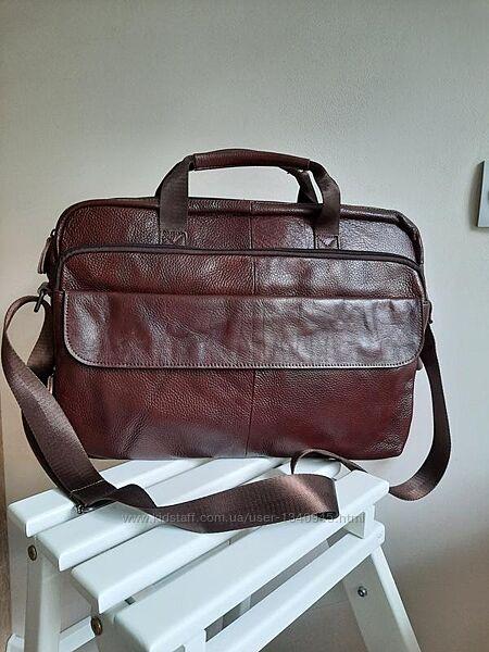 Кожаный портфель, сумка для ноутбука 40 дюймов