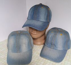 Джинсові кепки весна-осень. Джинсовые кепки унисекс. Подросток, взрослые.