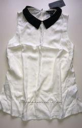 Элегантная стильная блуза с воротничком S-M