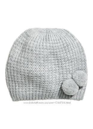 Н&М Kids girl. Демисезонна шапка з люрексом. One size. 92-104-116  2-4-6р.