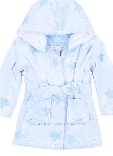 Primark baby / мякесенький халат з капішоном / блакитний -86р. червоний-92