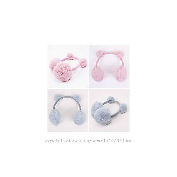 С&А / хутряні, якісні навушники / one size / 6-10років